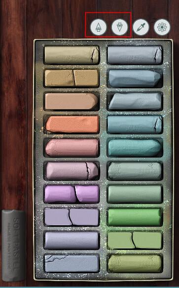 Pastel palette option