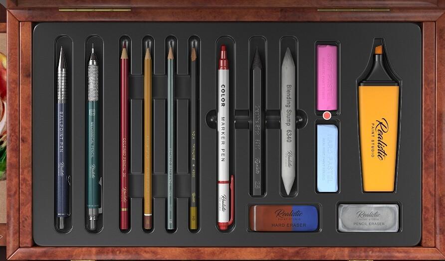 Choose a pastel tool set