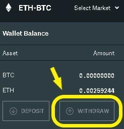 Withdraw ETH