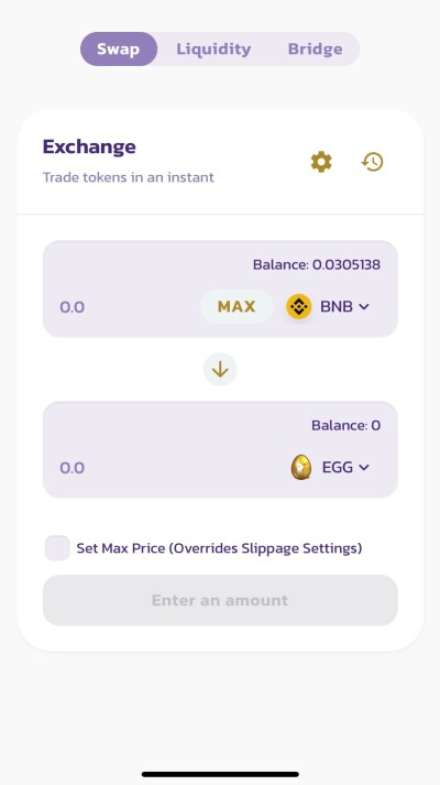 bnb to egg in goose finance