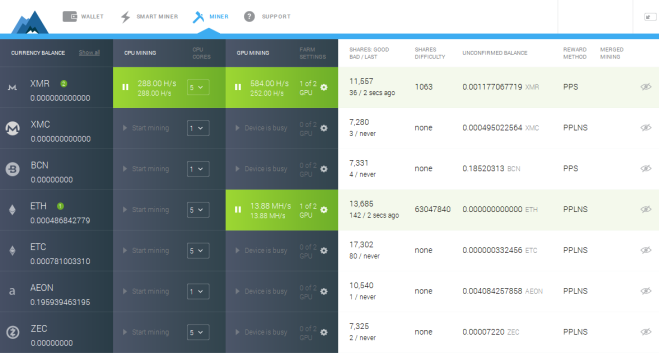 Image from MinerGate