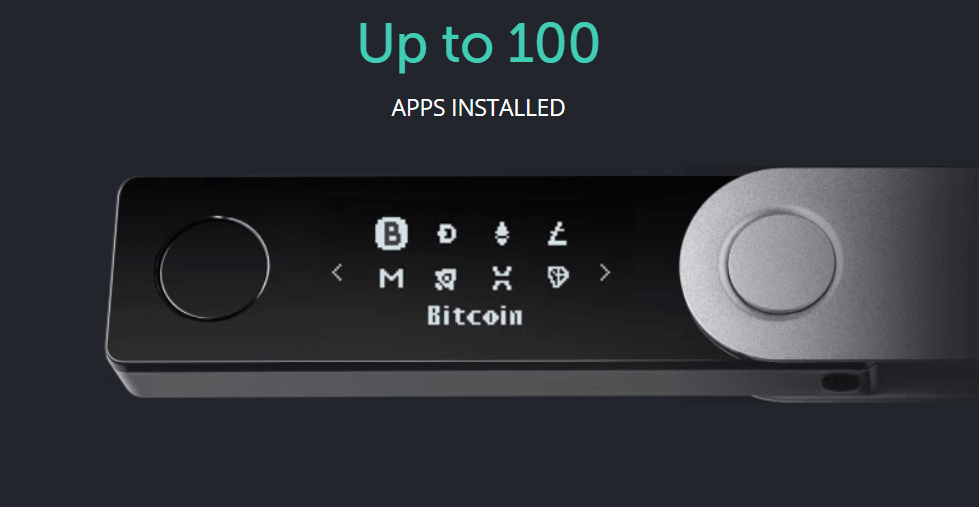 Ledger Nano X allows users to integrate up to 100 crypto apps at the same time