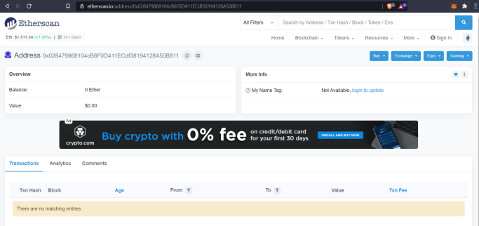 etherscan results