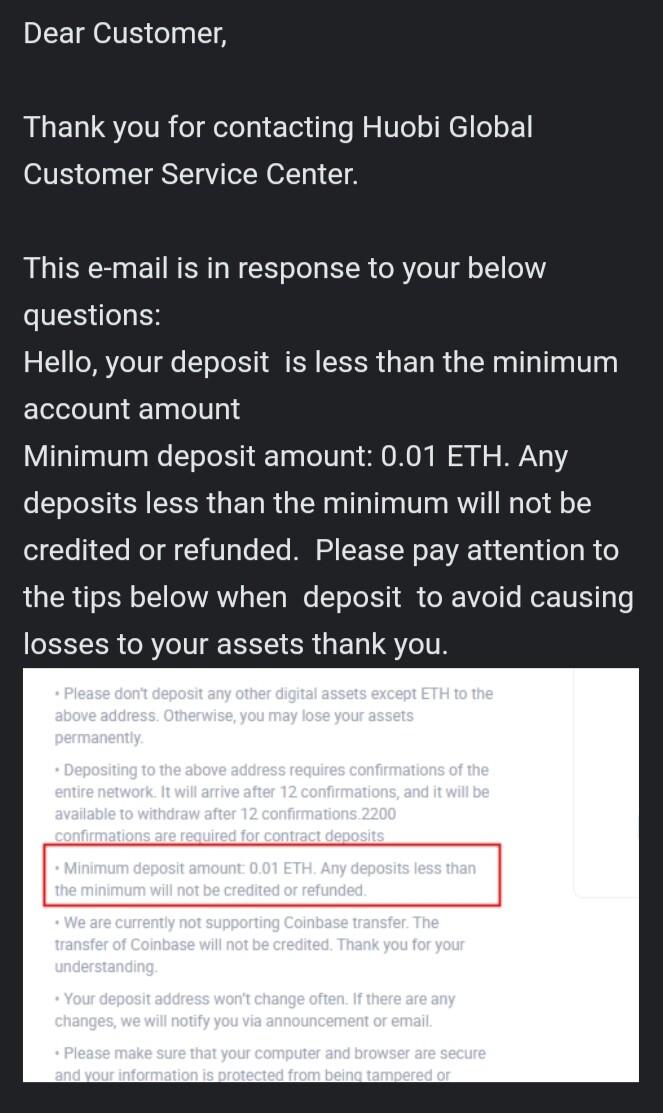 Huobi support answering customer