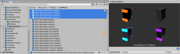 Unity prefab original and prefab variant