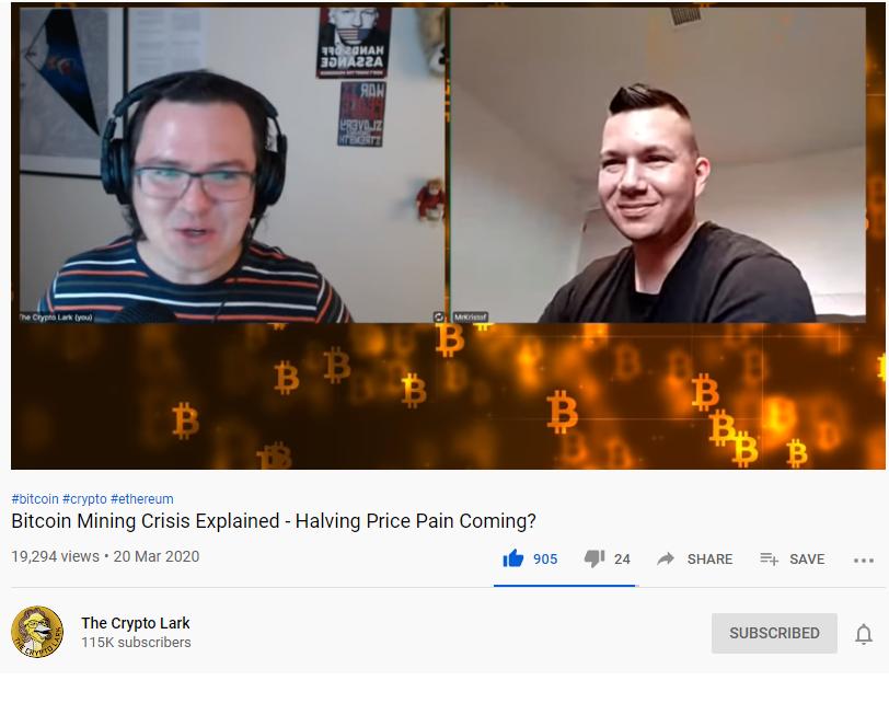 cryptolark, youtube channel, bitcoin mining