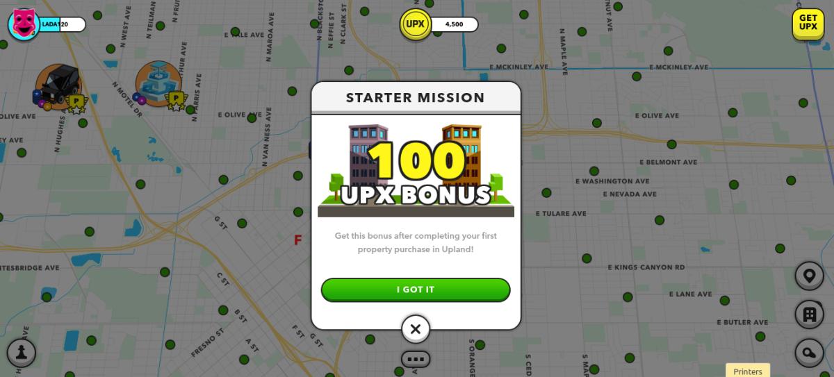 100 UPX Bonus