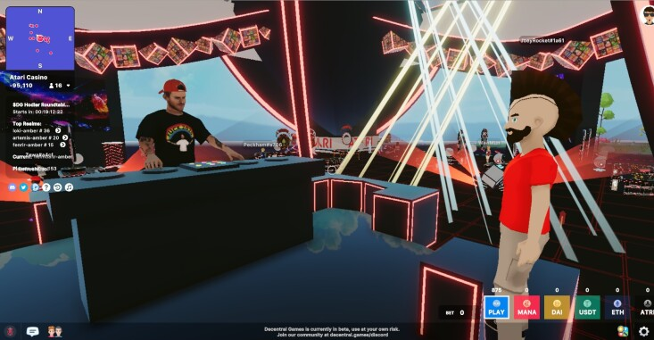 DJ Playing Music in Decentraland