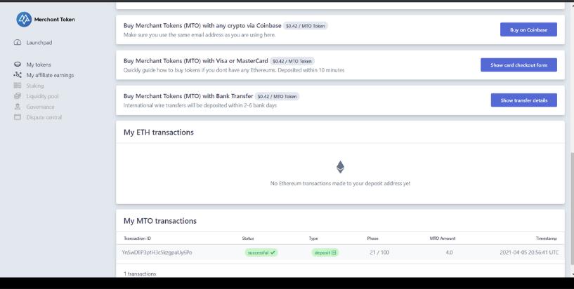Buy MTO with Coinbase