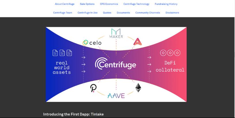 Centrifuge token sale on Coinlist
