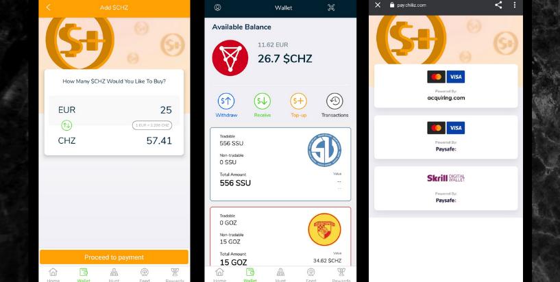 Buy Chiliz on Socios app