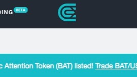 BAT now listet on cex.io