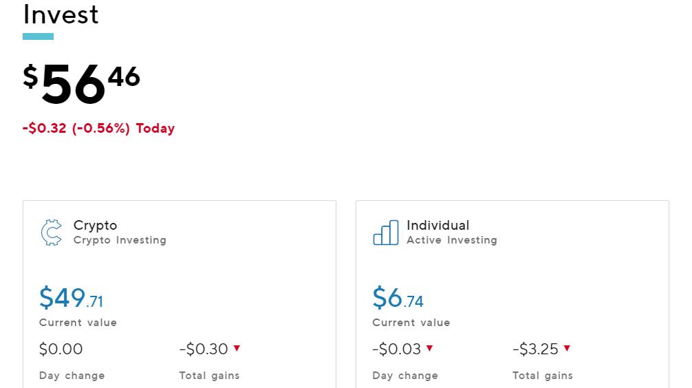 Sofi Investing Progress