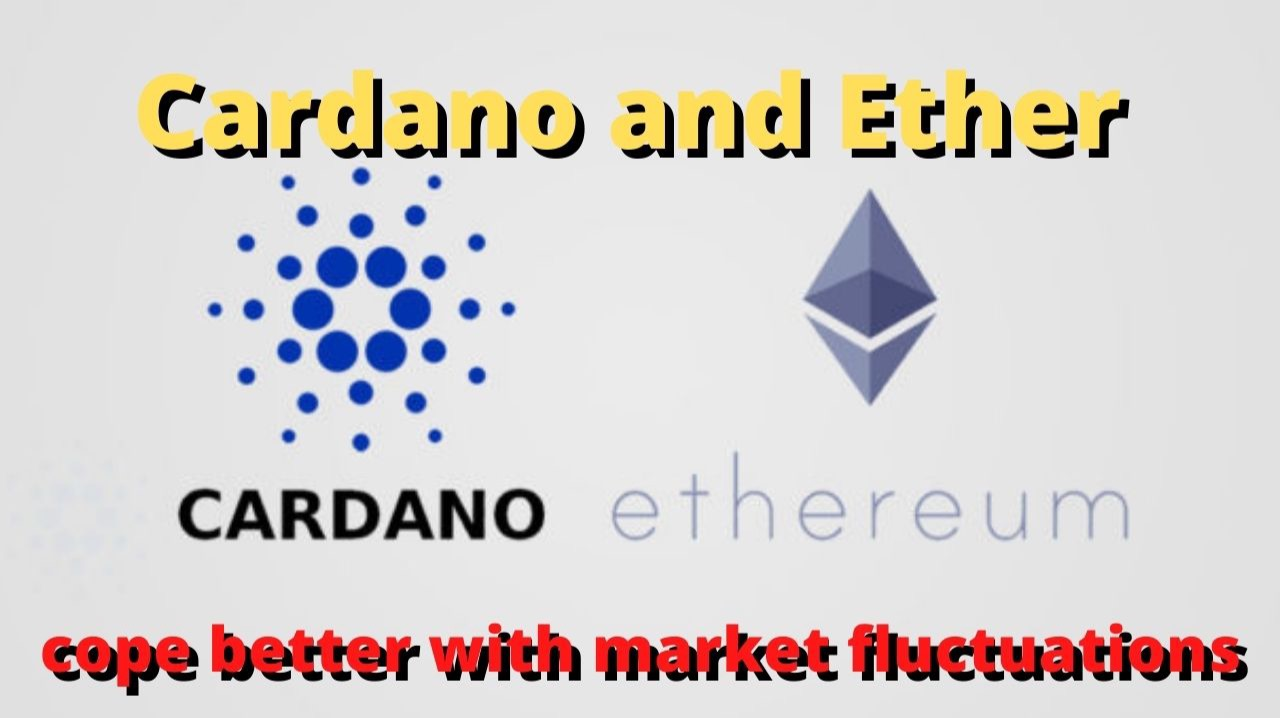 Cardano and Ether cope better with market fluctuations