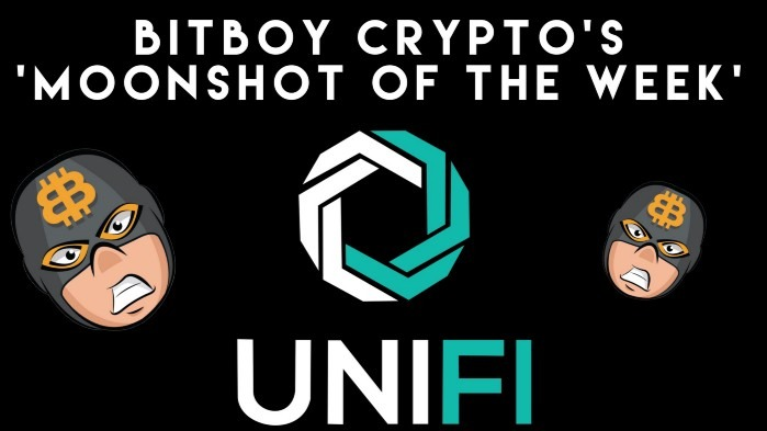 UNIFI DeFi is this week's 'Moonshot of the Week' by BitBoy Crypto.