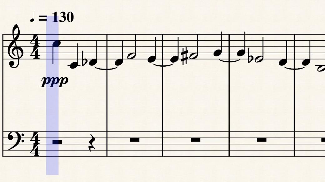 """""""Canone cromatico primo"""" (Philip Daniel) [SCROLLING SCORE]"""