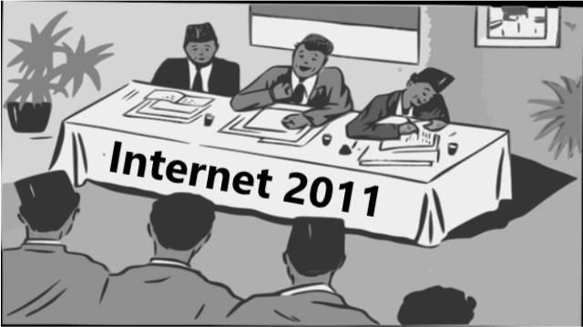 Illustrasi sosialisasi Internet di Indonesia 2011