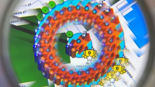 Upland - a kaleidoscopic aerial view of game play