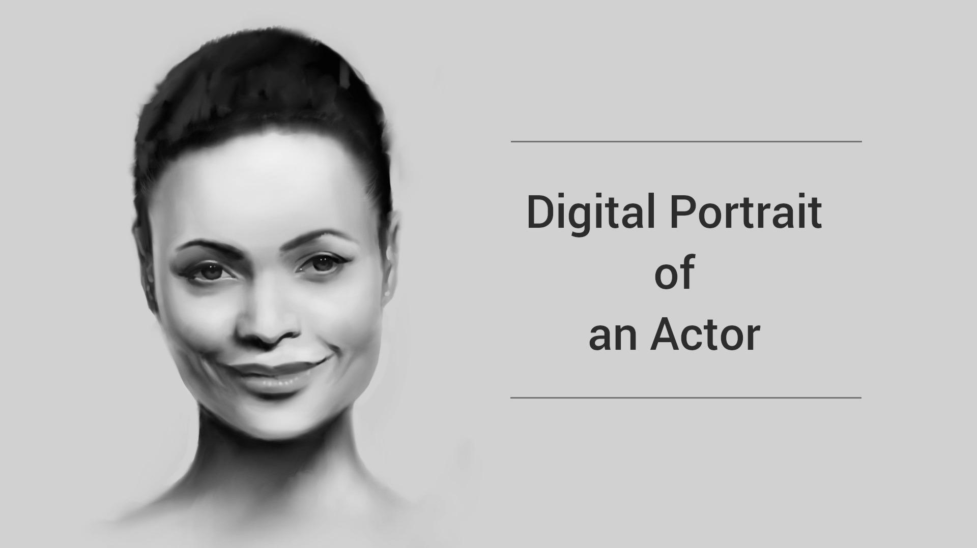Digital Drawing - Thandie Newton