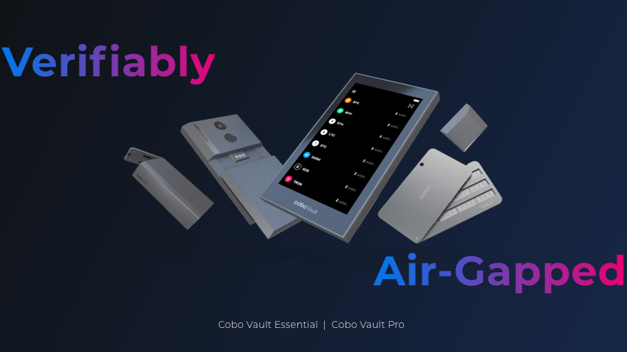 CoboVault is a hardware wallet devoted to air-gapped, verifiable security.