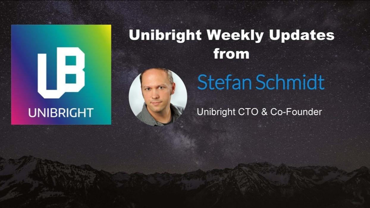 Unibright - 8th of October 2019 - Tokenization, Development, Research