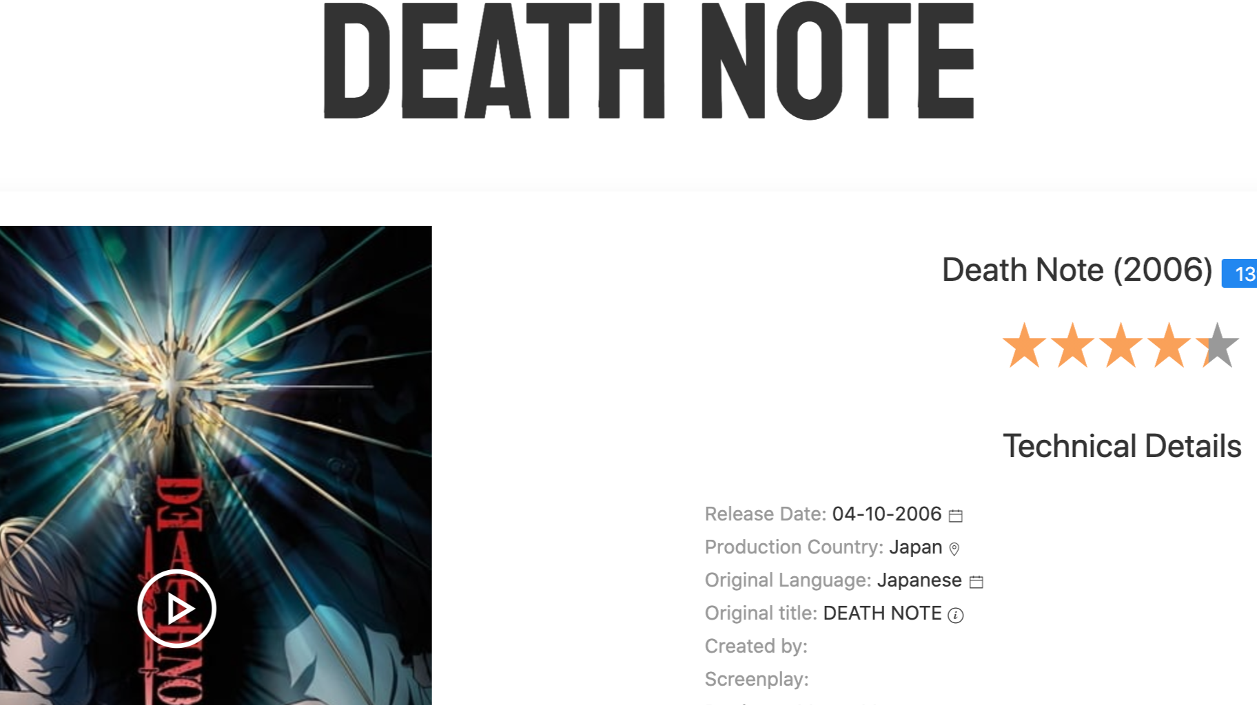 death Note: available in netflix and primevideo!