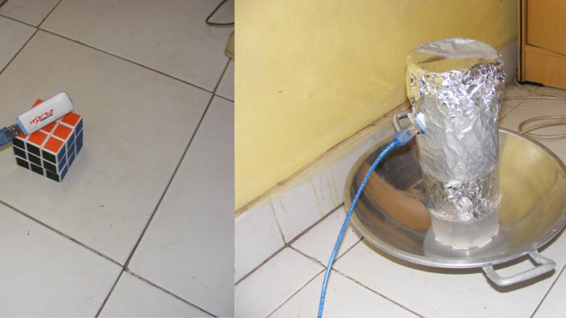 modem tanpa penguat vs modem dengan wajanbolic bazooka