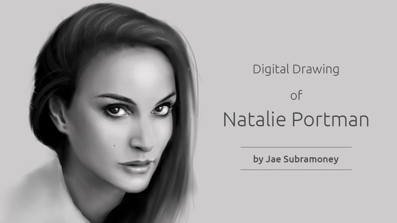 My Second Portrait Drawing of Natalie Portman