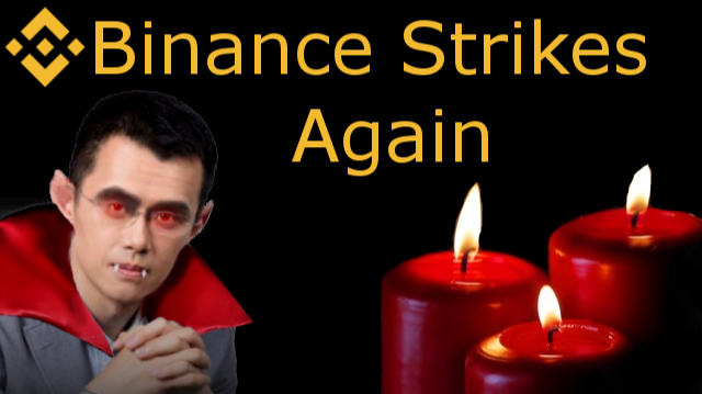 Binance Red Candles