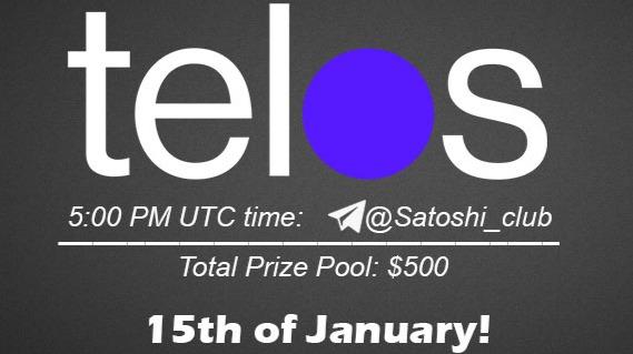 Telos x Satoshi CLUB AMA Session 15 Jan2020