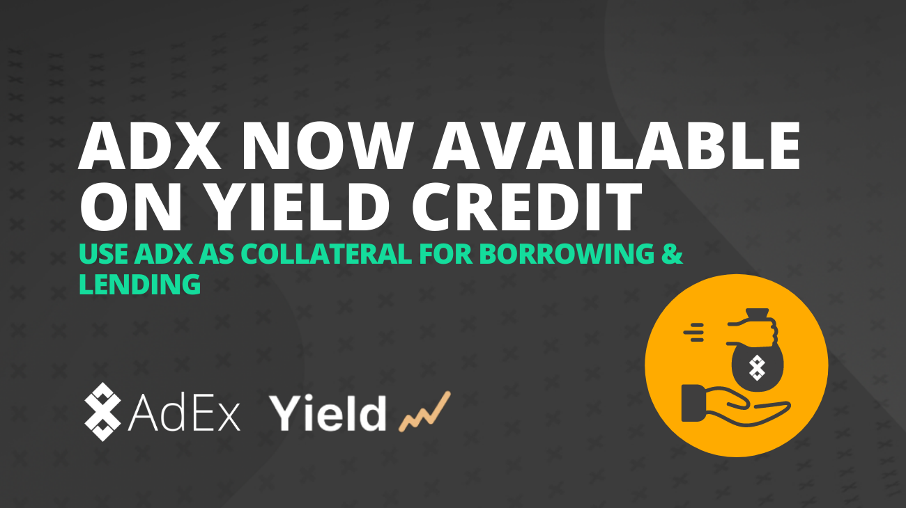 ADX Now Available for Borrowing and Lending on Yield Credit
