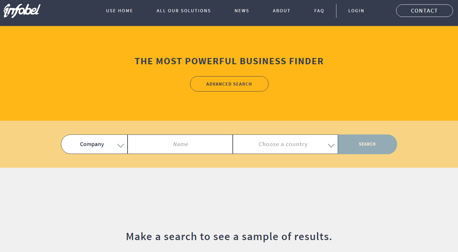 Infobel started a new service - Business Directory