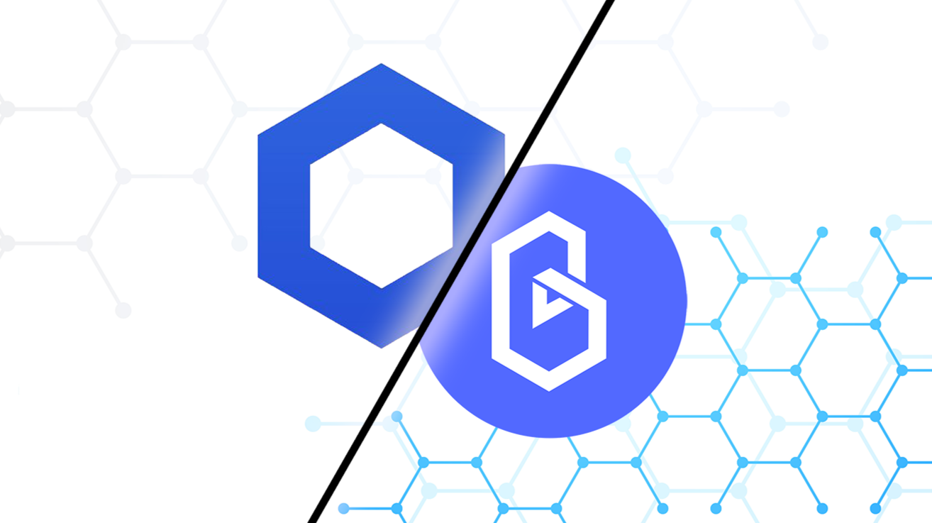 Chainlink and Band logos
