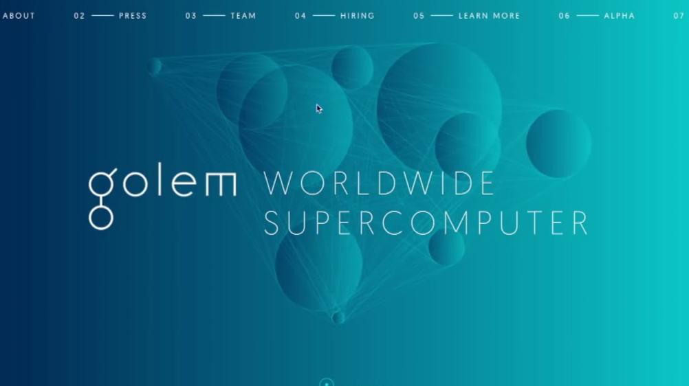 Golem Website Screenshot