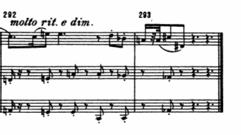 """From the conclusion of Arnold Schoenberg's """"String Trio, Opus 45"""""""