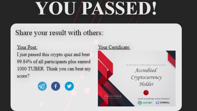 Only 5% of the total crypto communities passed this Quiz  - Crypto I.Q Test!