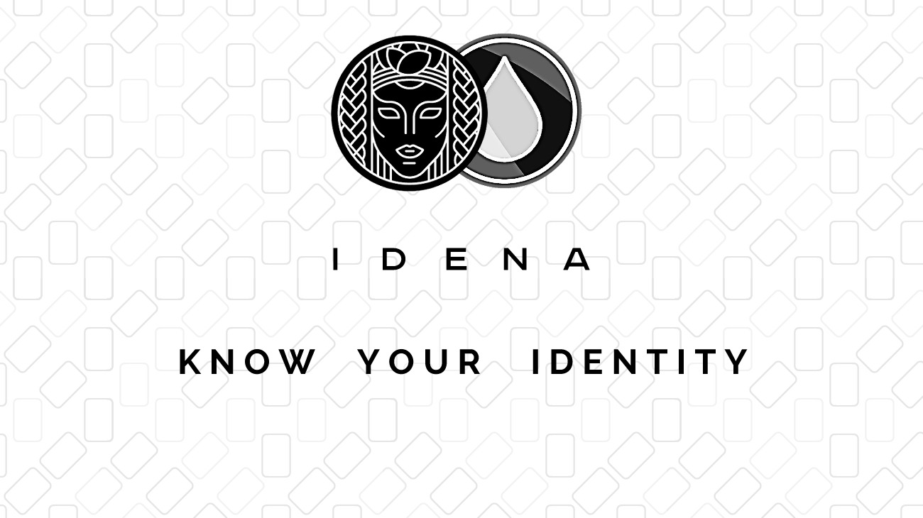 Idena Proof-of-Person Blockchain Logo and CryptoDrip Logo