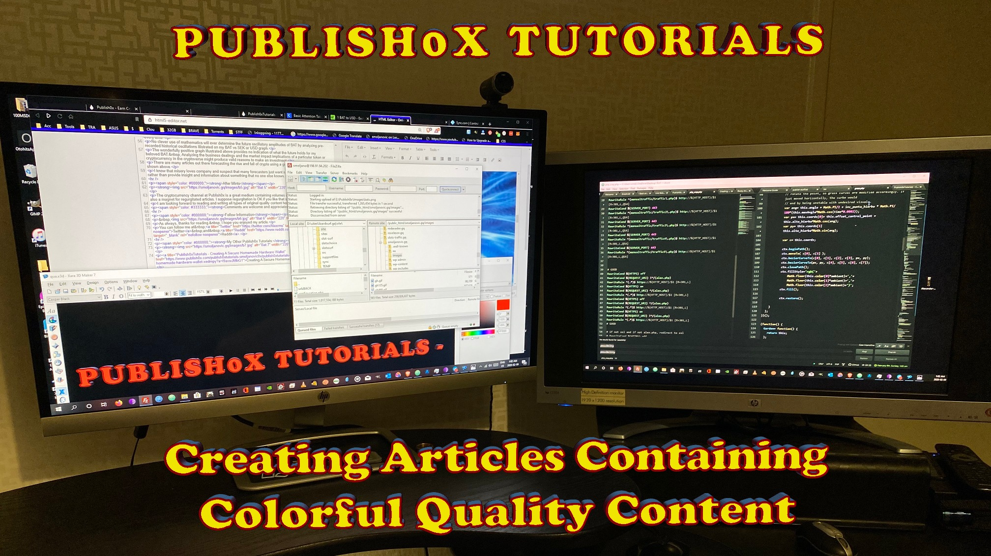 Publish0xTutorial - Creating Articles Containing Colorful Quality Content