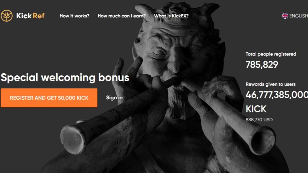 Get 50 000 Free Kick Tokens From Kickex Exchange Huge 10 Level Referral Program