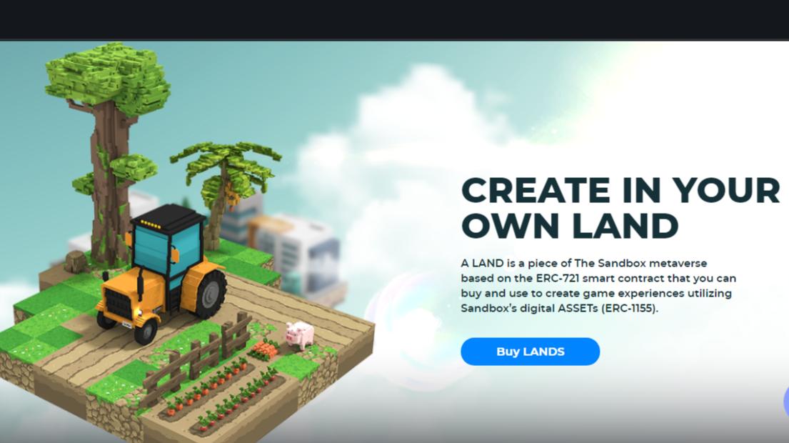 Discover NFT - Sandbox Land Auction