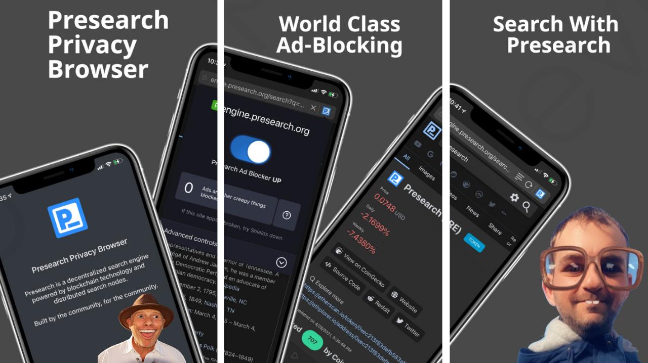 Presearch mobile app