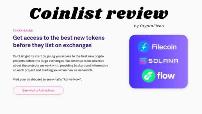 Coinlist platform screenshot