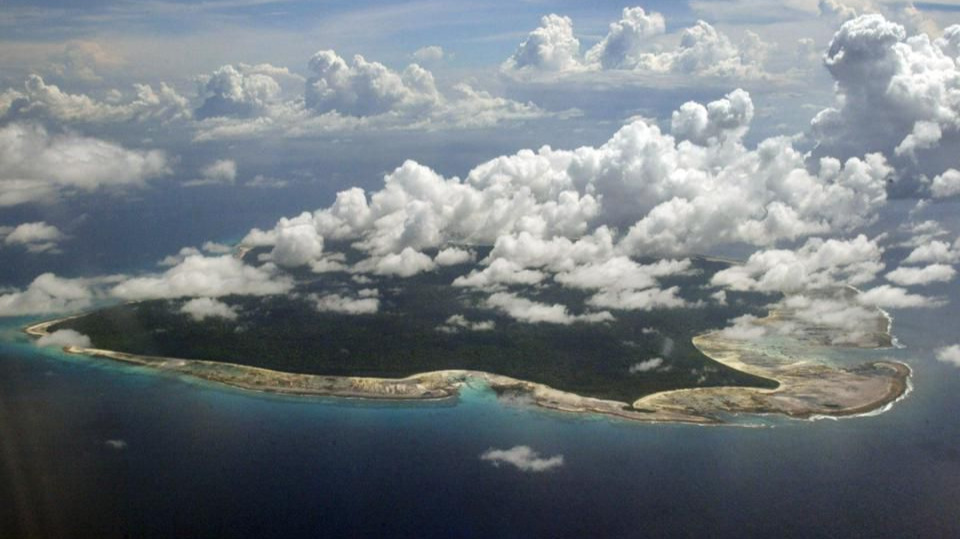 Aerial View of The Tropical North Sentinel Island in the Andaman Islands Which are a Part of India