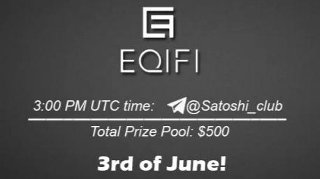 AMA Satoshi Club x Eqifi, June 3rd