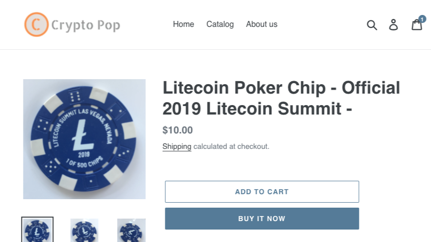 Litecoin Pokerchips