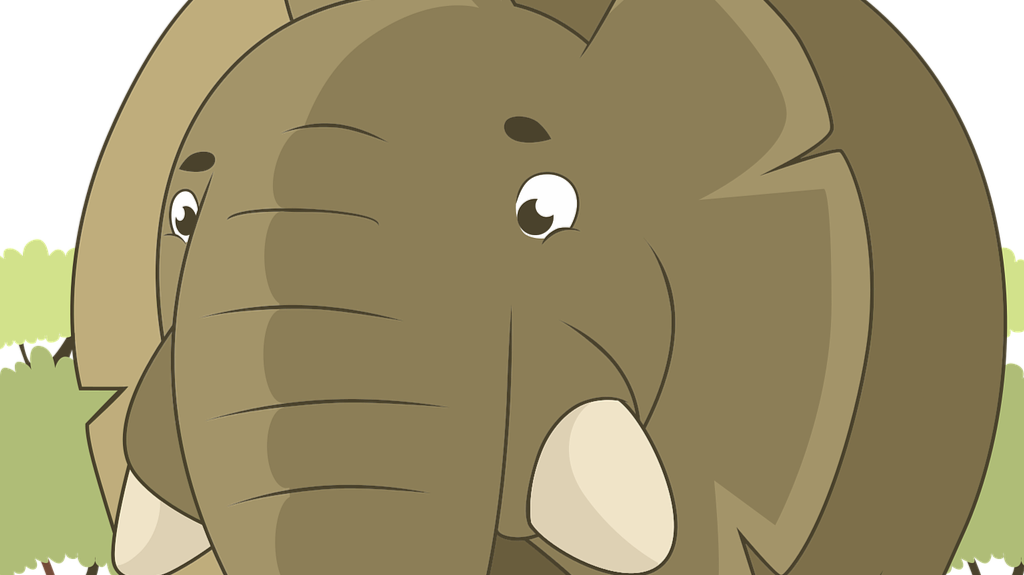 Free to use image of an elephant from Pixabay