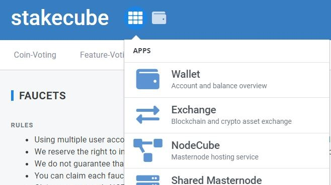 stakecube faucet