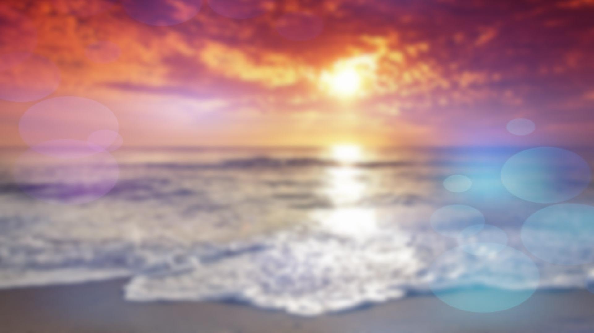 Beach Blurred Light Effect