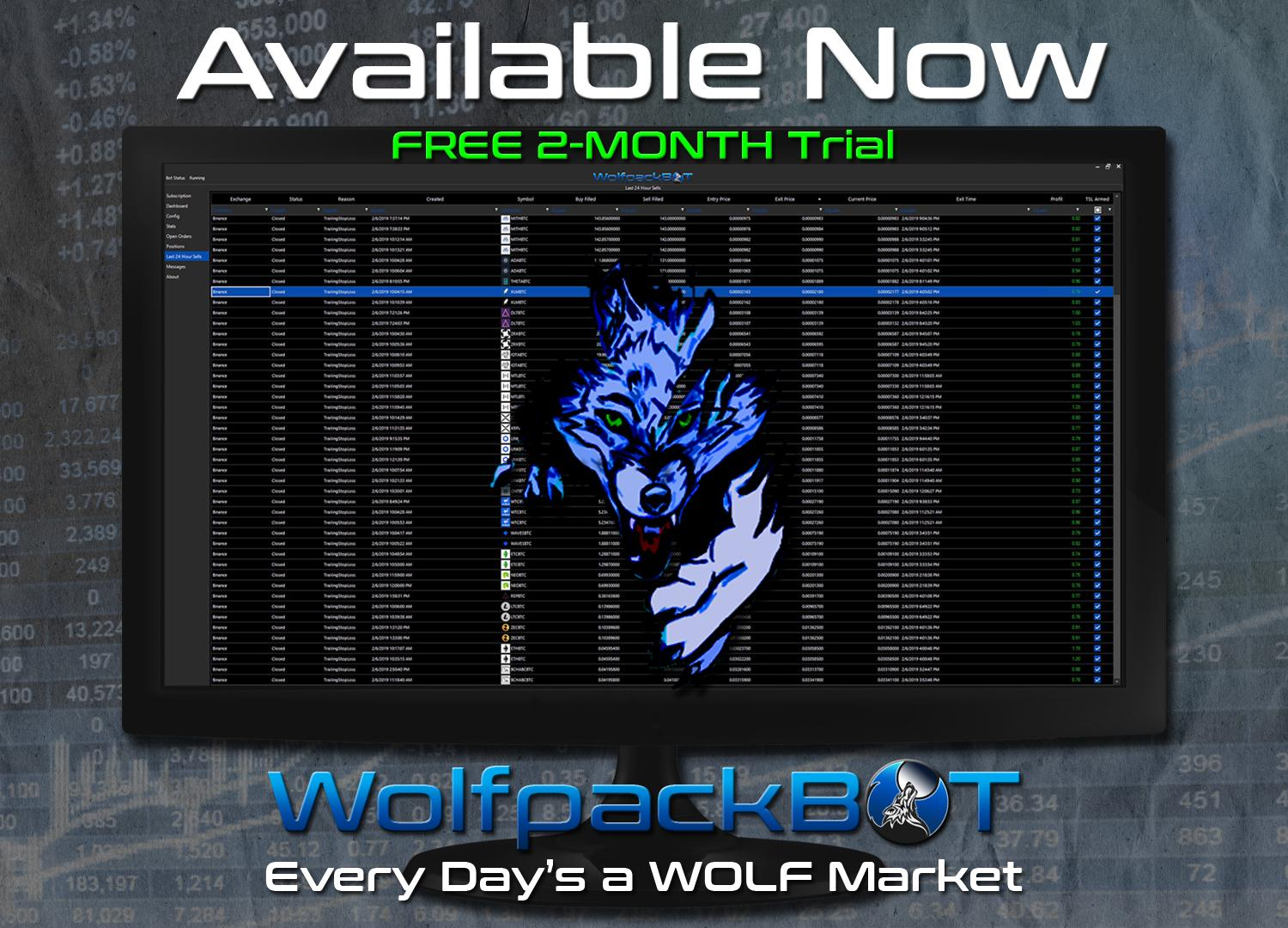 WolfpackBOT is a revolutionary solution in automated trading!