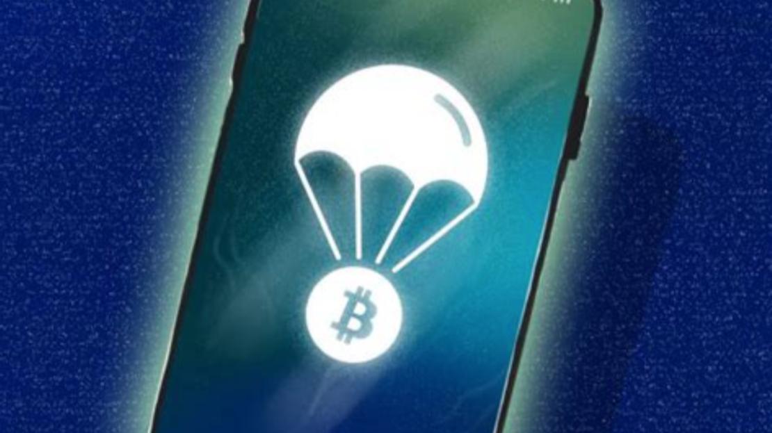 DropBit app on a phone display
